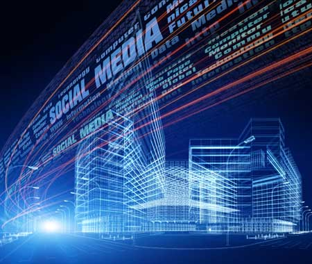 Social Media Marketing abstract image demonstrating the technology