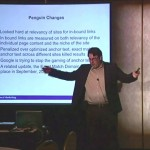John Thyfault teaching at a DMA workshop - SEO Google updates and how to deal with them