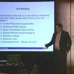 John Thyfault teaching at a DMA workshop - Optimizing offsite SEO links, social media and other factors