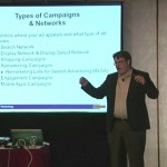 John Thyfault teaching at a DMA workshop - PPC campaign structure and types