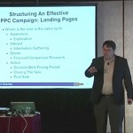 John Thyfault teaching at a DMA workshop - PPC landing pages and user profiles