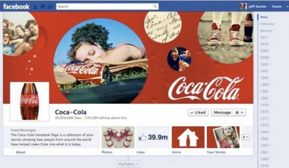 Facebook Premium Ad for Coca Cola