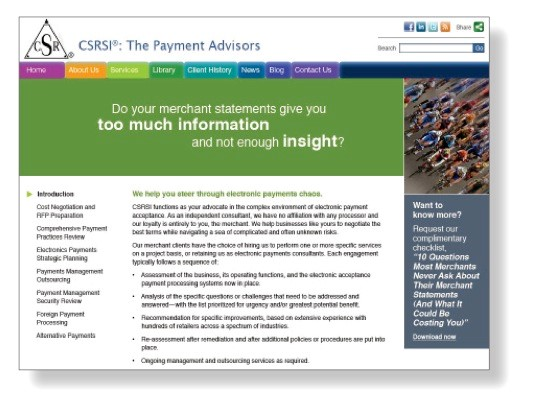 Website redesign agency for client CSRSI
