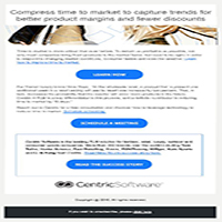 Centric Software responsive email template campaign