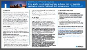 Sales Call Guides for NetApp