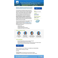 NetApp Executive Cloud - email template example