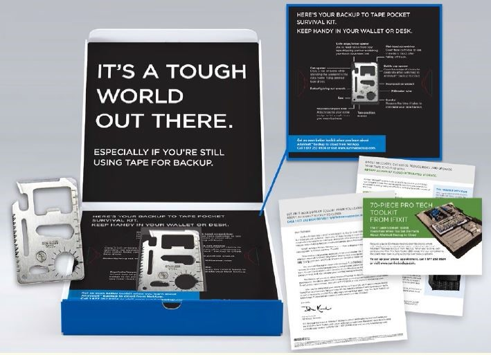 Direct mail design package for AltaVault