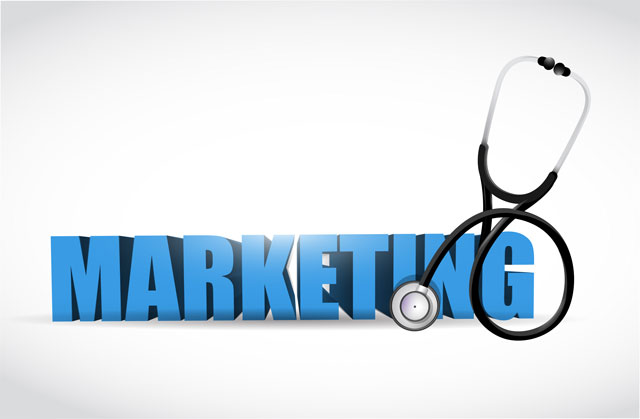 Healthcare Marketing sign with stethoscope
