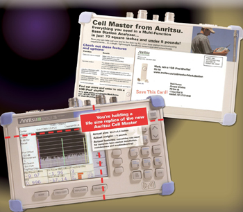 Picture of Anritsu Cell Master test equipment used to schedule demo appointments from marketing campaign