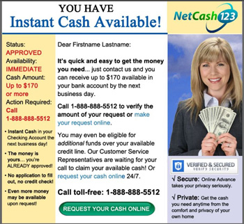 Image of results of email template after NetCash123 asked us to create an email campaign.