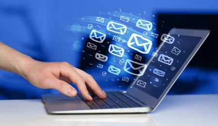 Image of sending emails via marketing automation platforms.