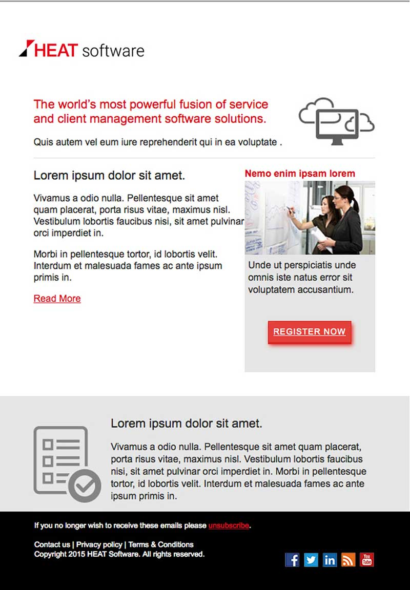 Marketo Email Template ReDesignBeasley Direct Online Marketing - Contact us email template