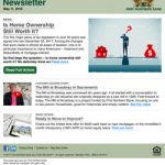 eNewsletter optimized for marketing automation system.