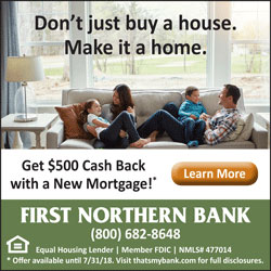 Google Display Network mortgage ad for First Northern Bank.