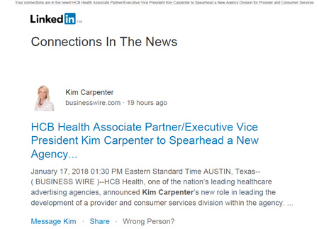 Image of lead-nurturing with LinkedIn Connections in the News post.