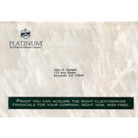 Platinum Software direct mail campaign envelope image.
