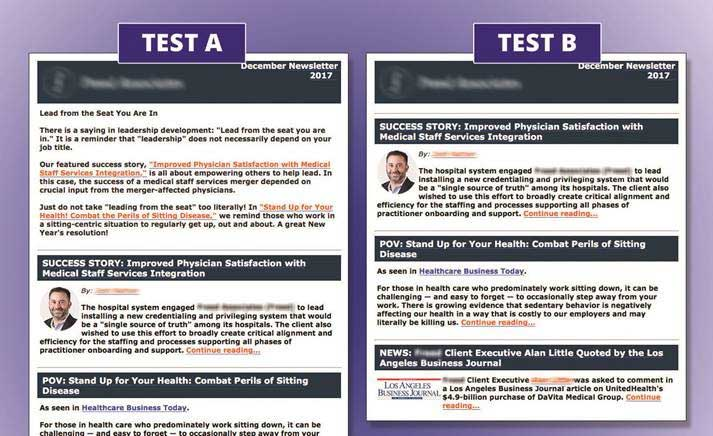eNewsletter template test with introductory copy eliminated.