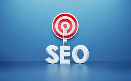 SEO audits words with ladder climbing to a target