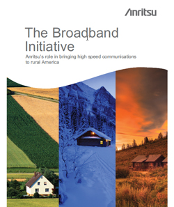 Brochure ad for Anritsu rural broadband initiative.