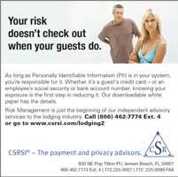 CSRSI lodging magazine thumbnail ad.