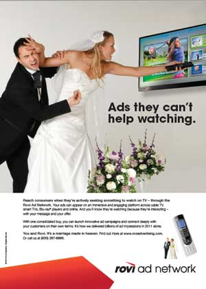 Rovi print ad for ad network