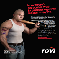 Rovi print ad for dvds.